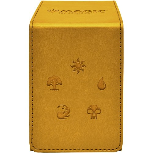 Ultra Pro Alcove Flip Deckbox Gold