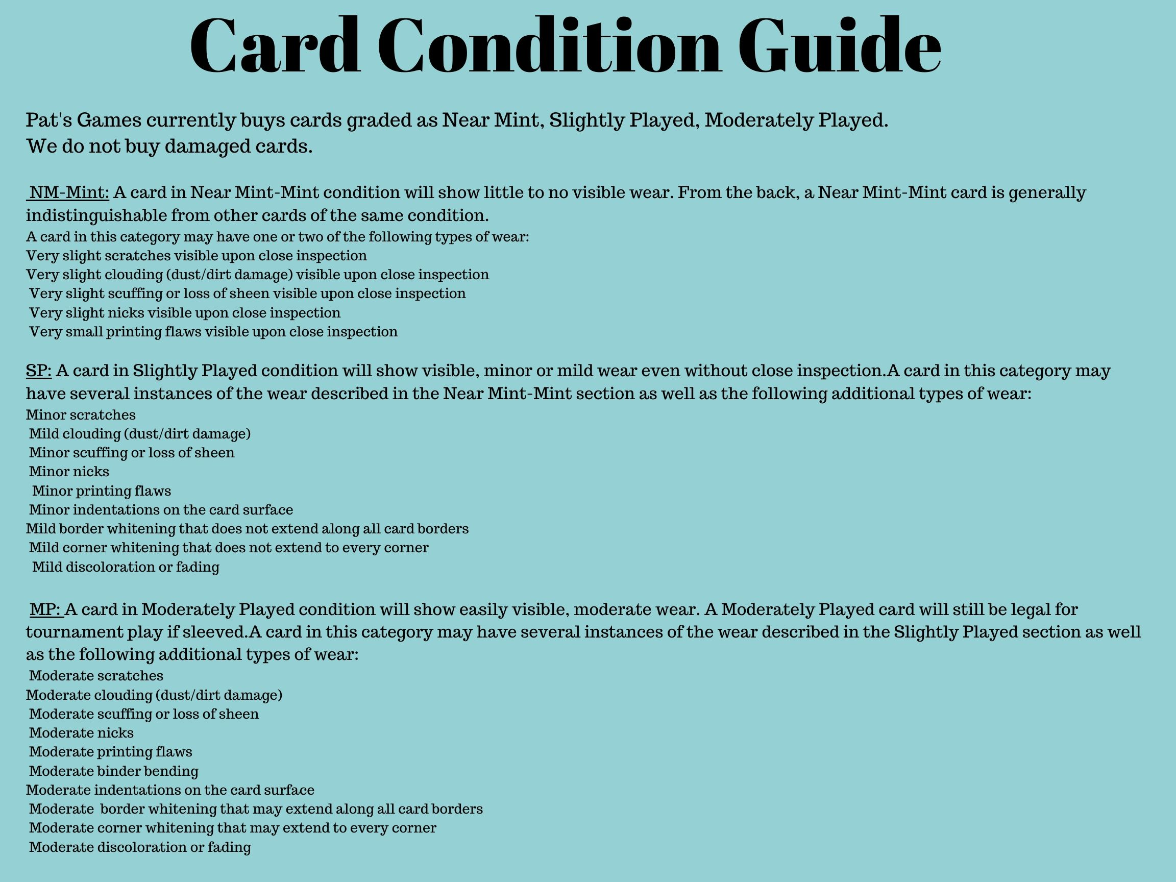 Card Condition Guide (1)