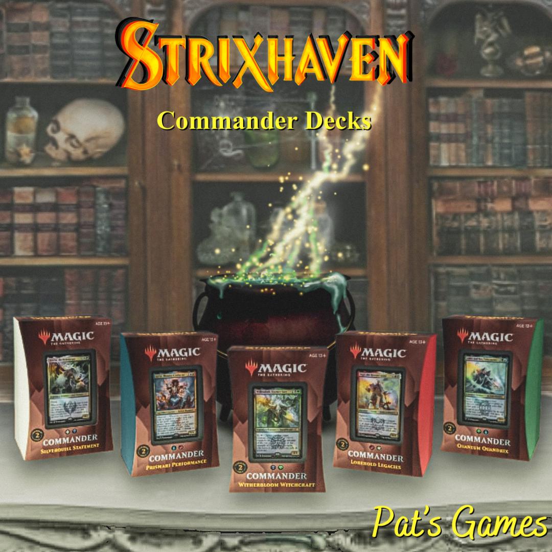 Commander Decks Available Now